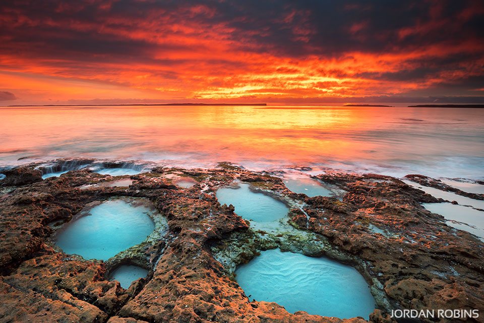 Rock Pool Sunrise Jordan Robins Photography
